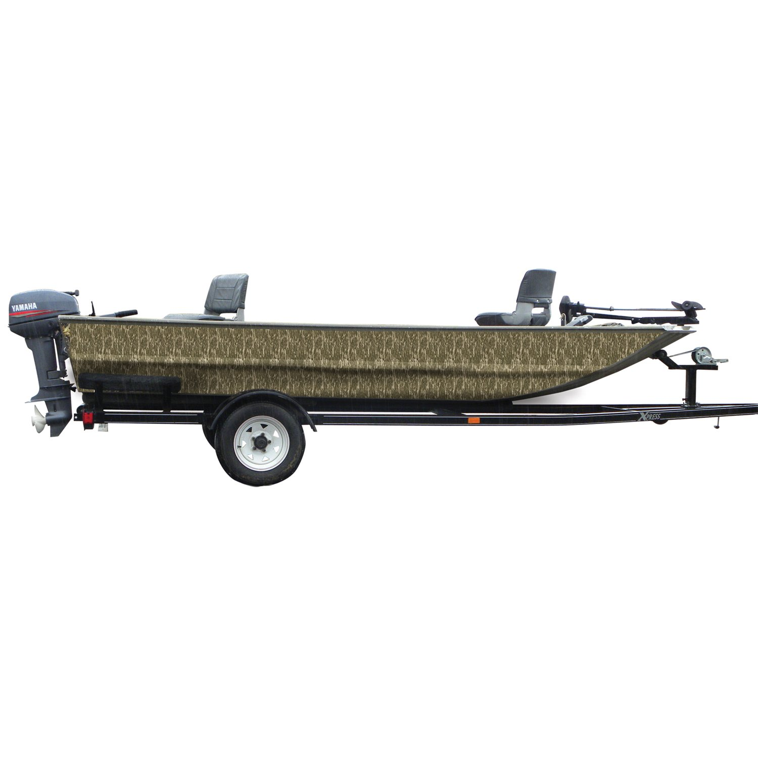 Mossy Oak Graphics 10004-16-BL Bottomland 18 x 16 Boat Sides Camouflage Kit with 2-Piece Camouflage Vinyl
