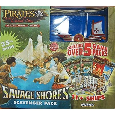 Pirates of the Cursed Seas Pocketmodel Game (Savage Shores Scavenger Pack): Toys & Games