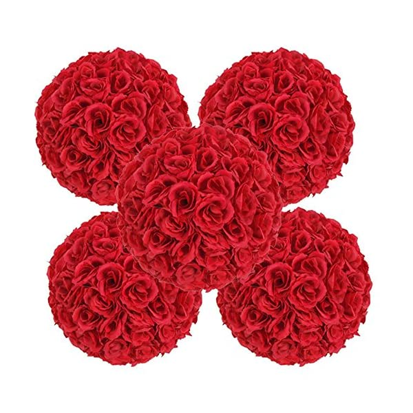 10-Pack-984-Red-Artificial-Rose-Satin-Flower-Ball-for-Home-Wall-Wedding-Party-Ceremony-Decoration-By-Ben-Collection