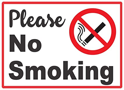 photograph about Printable No Smoking Signs named R PRINT No Cigarette smoking Indicator Board Self Multicolor Pirnting