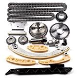 SCITOO 94201S Timing Chain Kit Tensioner Guide Rail Cam Sprocket Crank Sprocket Shaft Sprocket Compatible Chevrolet Malibu 8-13 Equinox 10-15 Buick L4 2.0L 2.2L 2.4L
