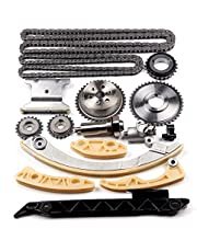 SCITOO 94201S Timing Chain Kit Tensioner Guide Rail Crank Sprocket Shaft Sprocket Compatible fit for Chevrolet Malibu 8-13 Equinox 10-15 Buick L4 2.0L 2.2L 2.4L