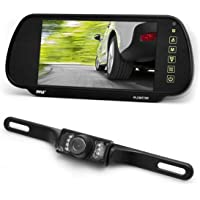 Pyle 7-Inch TFT Mirror Monitor with Rearview Night Vision Camera mirror PLCM7200