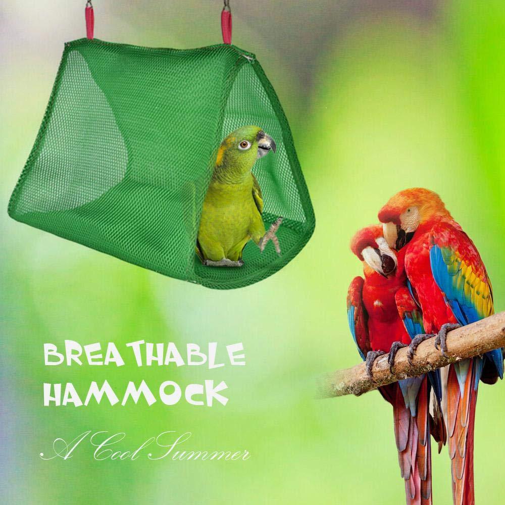 Perfetta per parrocchetti AUOKER sicura e Traspirante cacatua Amaca per pappagalli Amaca Triangolare per Uccelli calopsitte calopsitte Accessori per Gabbia