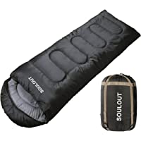 SOULOUT Sleeping Bag 3-4 Season Warm Cold Weather, Lightweight, Waterproof – Great for Adults & Kids - Excellent Camping Gear Equipment, Traveling, and Outdoor Activities