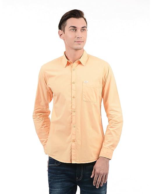 e352ed810f Pepe Jeans Men s Plain Slim Fit Casual Shirt (PIMW200001 Yellow Small)