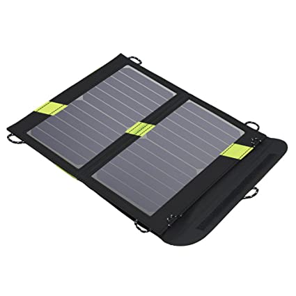 X-DRAGON Portable Solar Chargers 14W SunPower Solar Panel Waterproof  Foldable Camping Battery Charger with Dual USB Port & SolarIQ Technology  for