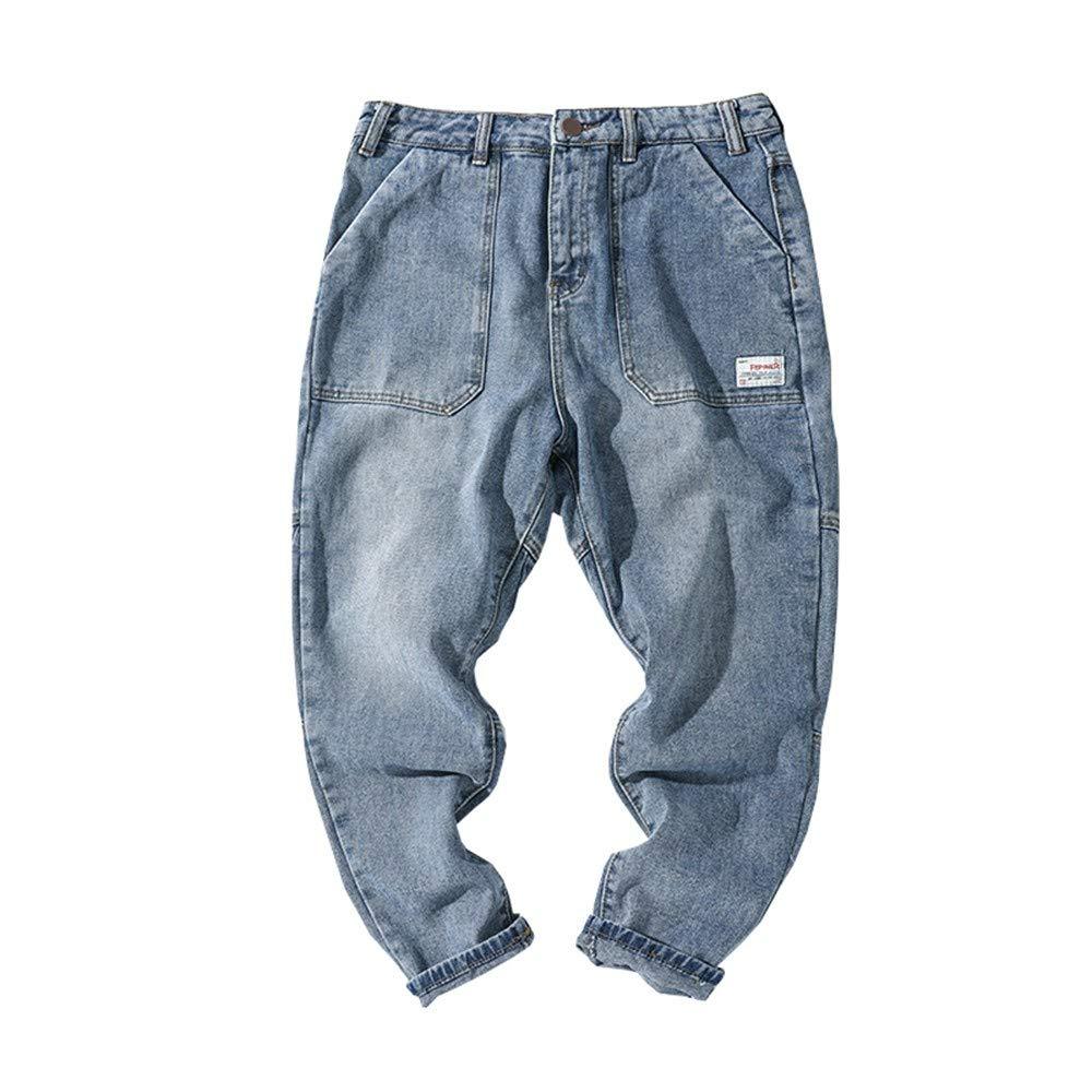 EVEORSSRA Jeanshosen Herrenbekleidung Retro Overalls Jugend Wasser Schneiderei Casual Jeans Lose Niedrige Hosen