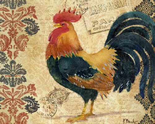 Magic Slice Non-Slip Flexible Cutting Board/Gourmet, 12 by 15-Inch, Gourmet Rooster by Paul Brent