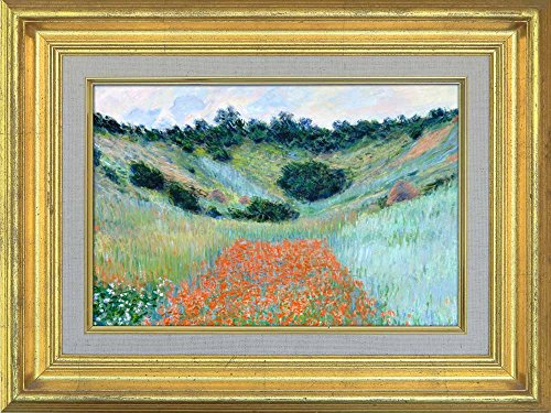 Creative 3D Visual Effect Wall Mural Poppy Field in a Hollow near Giverny by Claude Monet Peel Stick Wall Decor