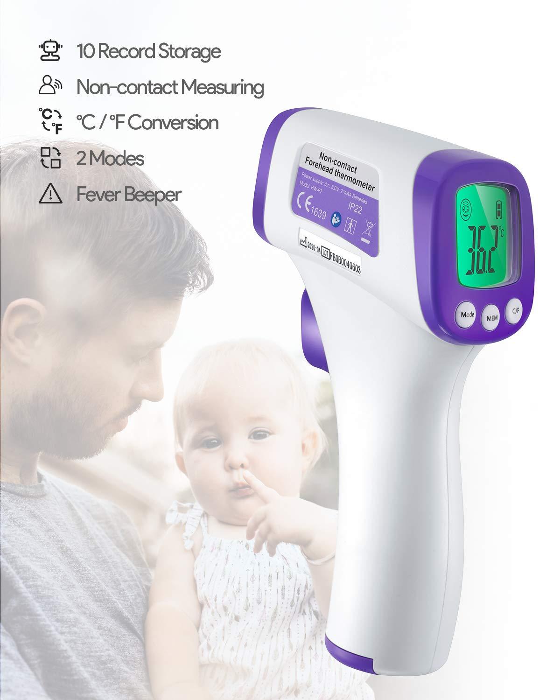 Pantalla LCD Se/ñal ac/ústia para Adultos Term/ómetro Digital Term/ómetro Infrarrojo Term/ómetros de frente