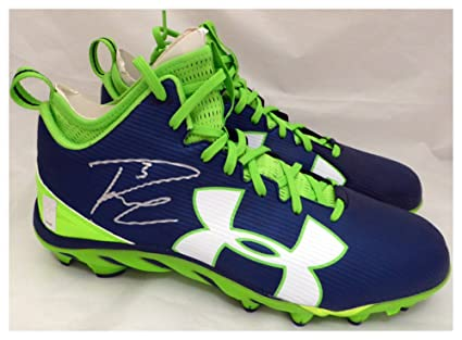 13333b2a Image Unavailable. Image not available for. Color: Russell Wilson Signed Autograph  Under Armour Cleats Shoes Seattle Seahawks RW Holo ...