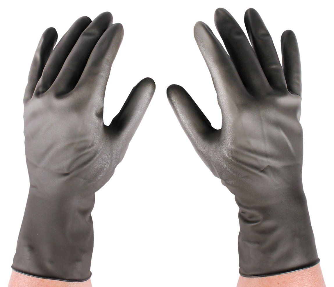 Infab 775085 Radiation Reduction Gloves, Latex free, Heavy Attenuation, Size 8.5, Black by Infab