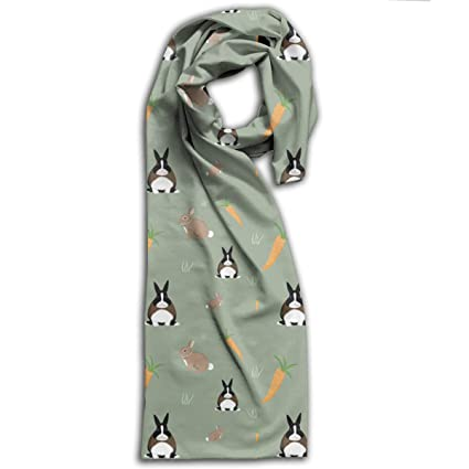 3fda3547614d Image Unavailable. Image not available for. Color: Adult 100% Polyester  Custom ELE Bunny Print Unisex Scarf ...