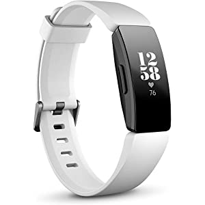 Fitbit Inspire HR Health & Fitness Tracker with Auto-Exercise Recognition, 5 Day Battery, Sleep & Swim Tracking, White/Black