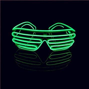 Deko Schädel Akku EL LED Brille Leuchtbrille Blinkende Brille Partybrille Cosplay Halloween-Sammlerobjekte
