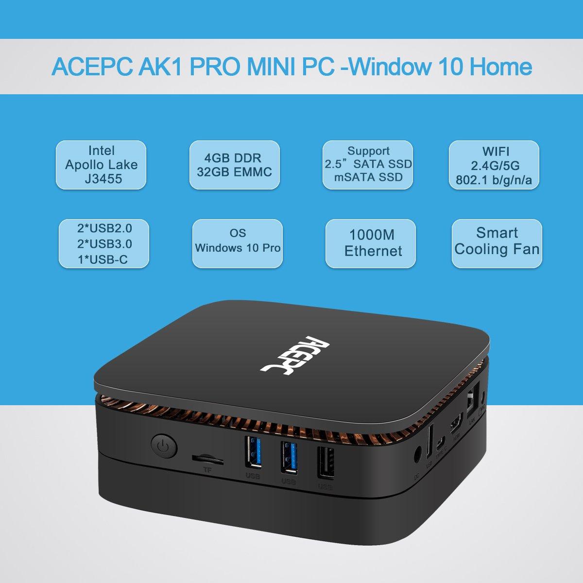 Mua sản phẩm ACEPC AK1,Mini PC Intel Celeron Processor J3455
