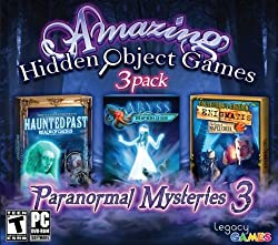 Amazing Hidden Object Games ~ 3 Pack. Paranormal Mysteries Volume 3. Includes: ABYSS The Wraiths of Eden + HAUNTED PAST Realm of Ghosts + ENIGMATIS