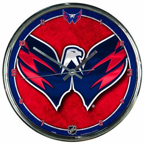 NHL Washington Capitals Chrome Clock, 12