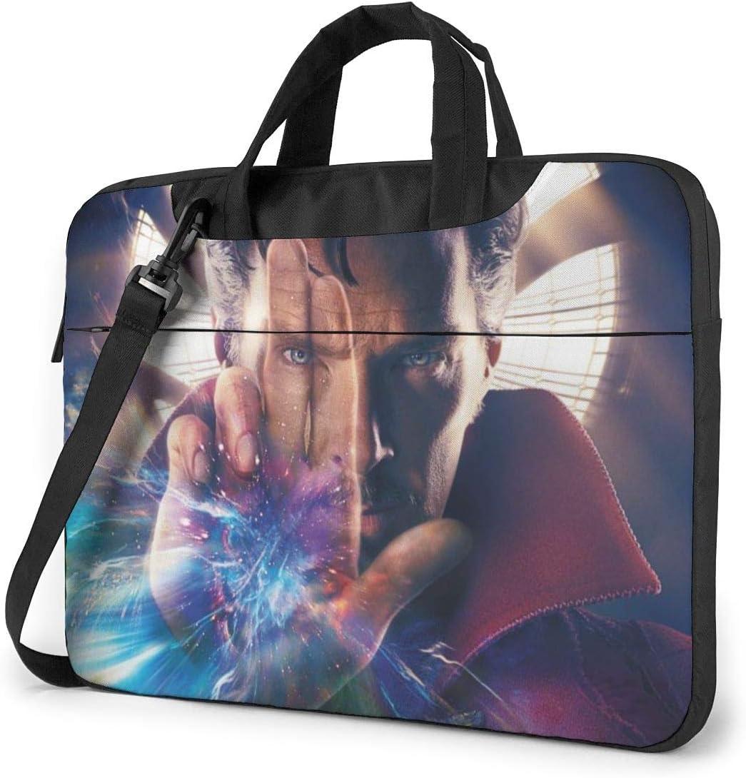 Doctor Strange Laptop Sleeve Case Protective One Shoulder Shockproof Handheld Case/Notebook Computer Pocket Case/Tablet Briefcase Carrying Bag Compatible/Soft Carrying Zipper Bag-15.6 inch