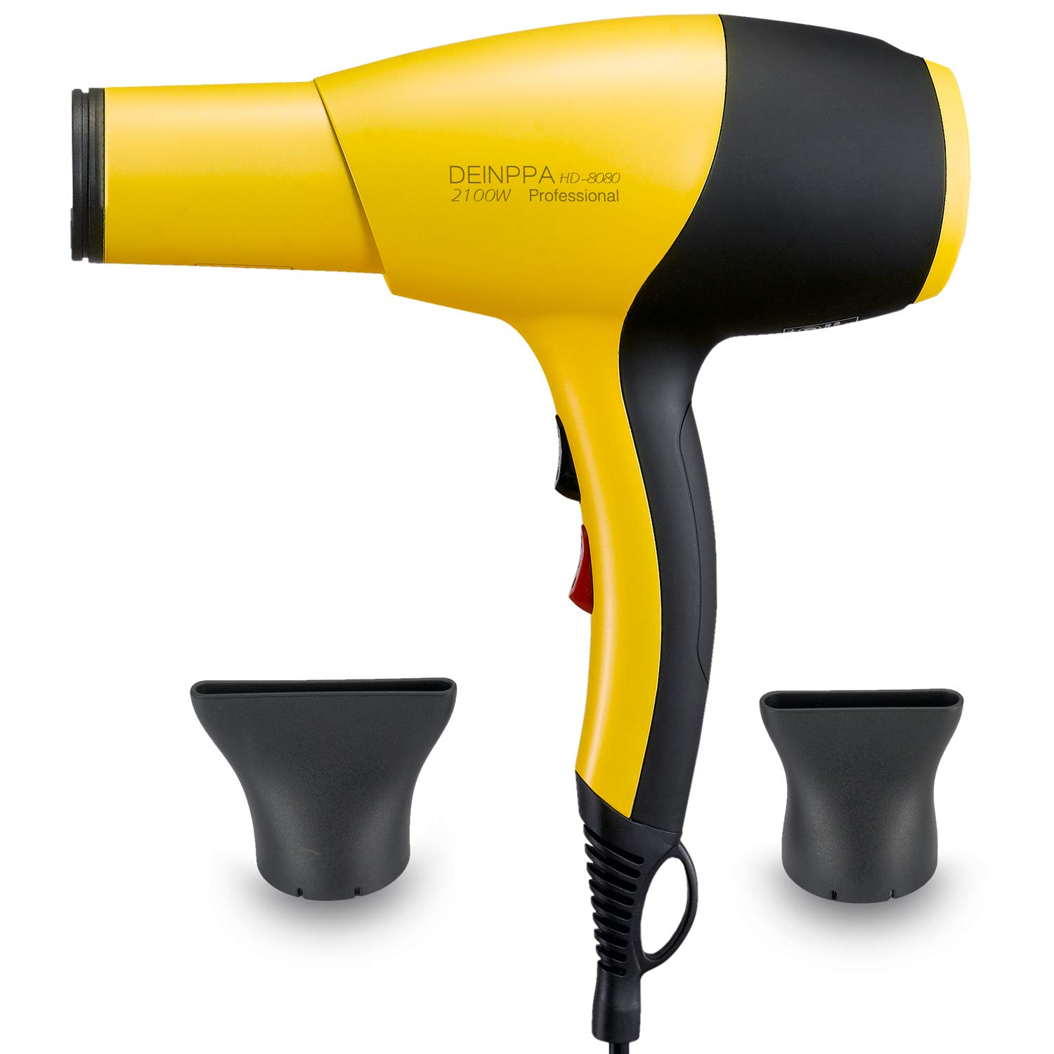 Deinppa Ionic Hair Dryer AC 2100W Professional Salon Blow Dryer Low Noise Fast Dry with Ceramic+Tourmaline Technology With GFCI