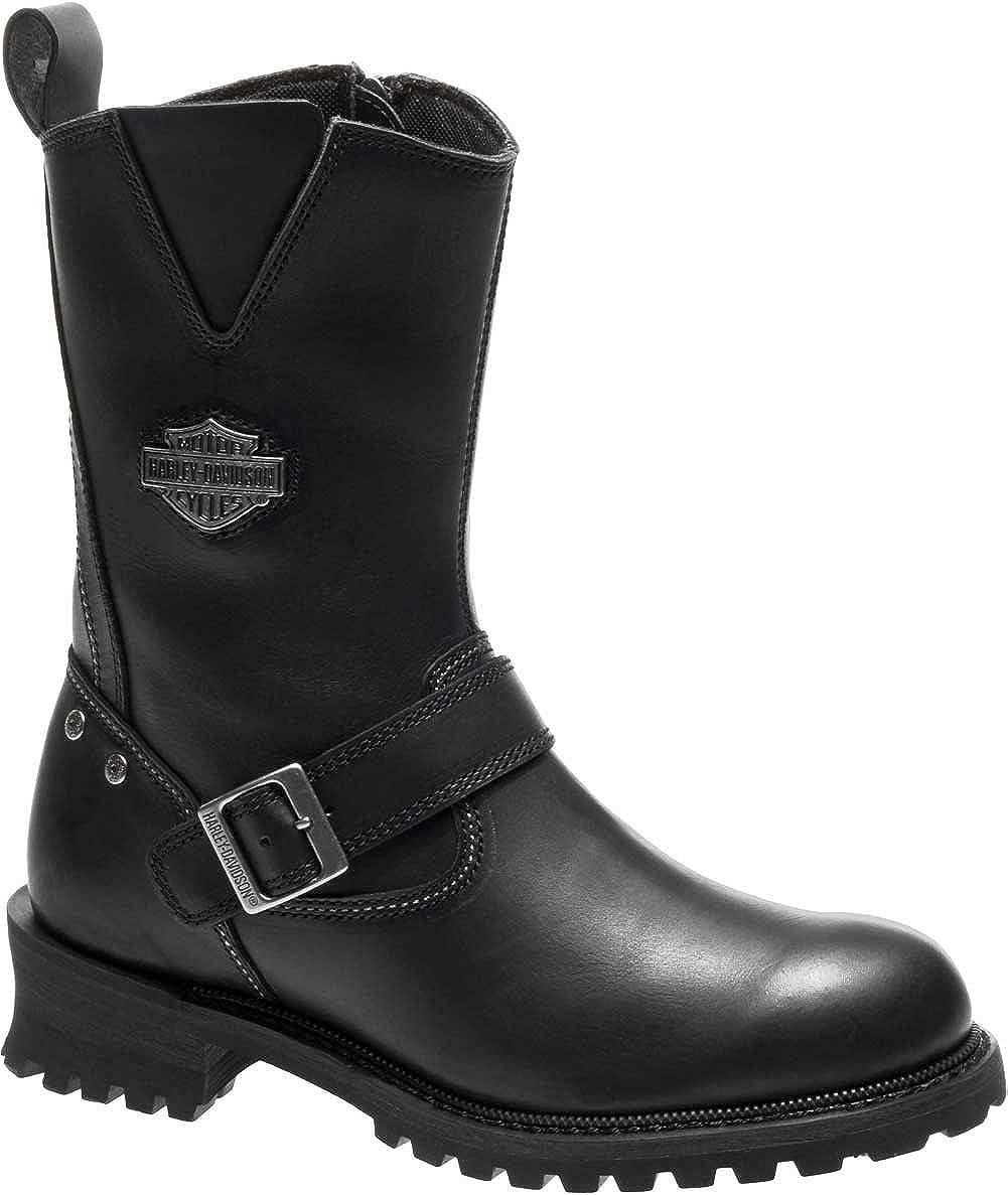 74d02f8ecb04f3 Amazon.com  Harley-Davidson Men s Bladen 9-Inch Black Leather Motorcycle  Boots D96155  Harley-Davidson  Clothing