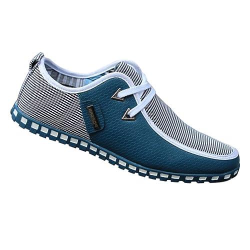 Yudesun Zapatos para Hombre Mocasines - con Cordones Náuticos Ligero Confortable Suela Blanda Cuero Moda Casual Zapatos de Conducir: Amazon.es: Zapatos y ...