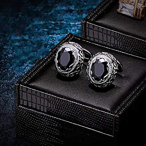 Maslin Luxury Black Shirt Botones para la Ropa Cufflink DIY Crystal botones decorativos Buttons for Clothing Birthday Gift
