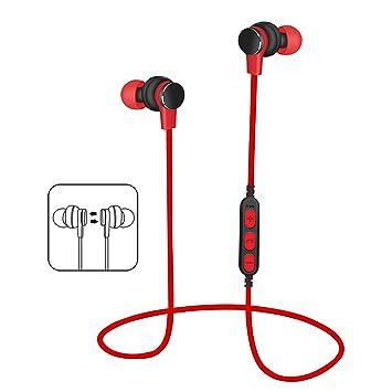 Nosterappou Tarjeta enchufable MP3 Auriculares Deportivos Bluetooth inalámbricos Sonido estéreo 3D Inalámbrico Intraoral Reducción de Ruido Tapones para los ...