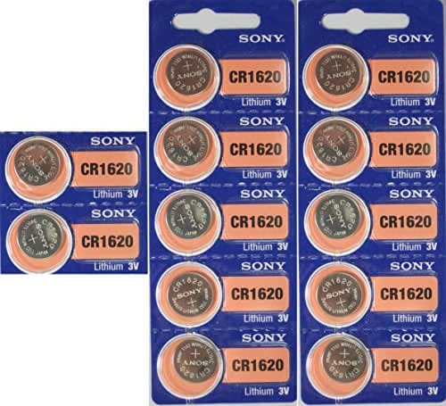 Sony Lithium 3V Batteries Size CR1620 (Pack of 12)