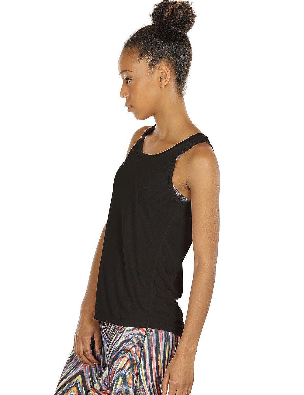 icyzone Dos Ouvert D/ébardeur de Sport Femme Paquet de 2 Tops sans Manches Exercice Yoga Shirt