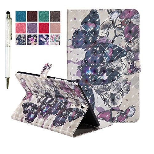Case MiusiCase Flip amp;Tree Case and Case Galaxy Galaxy Cat Cover Wallet Tab Book for Tab Samsung SM Cover Painting Protective Leather butterfly Relief Style Samsung T550 Black SM 7 T550 SM Stand Pattern 9 A 7 9 PU A z4nwPqB