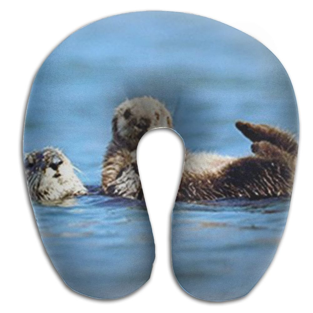 CRSJBB219 Sea Otter Pup Baby Ocean Wildlife Animal Comfortable Travel Pillow,Neck Pillow,a Memory Foam Pillow That Provides Relief and Support for Travel,Home, Neck Pain