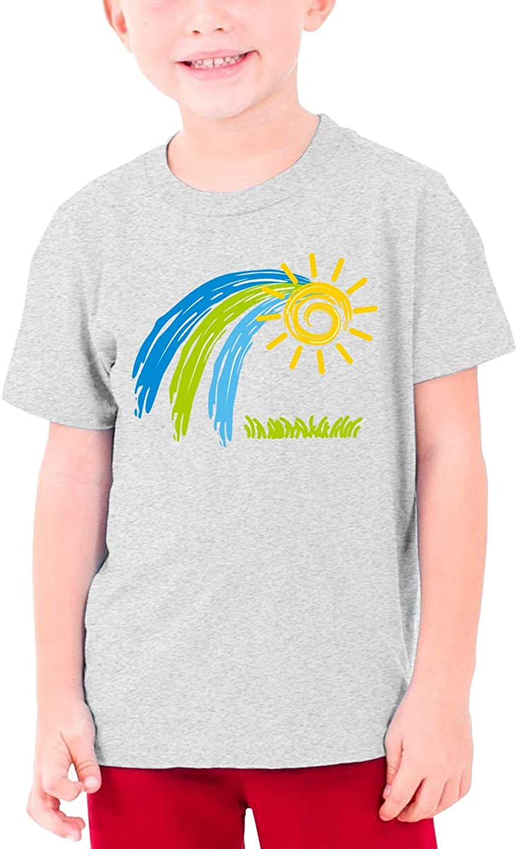 Youth Graphic Tshirts Teenage Boys Girls Short Sleeve T-Shirt Sunshine Drawing Printed Round Collar T Shirt Tees Tops