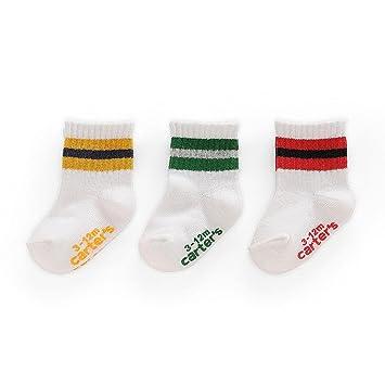 Amazoncom Carters Boys Crew Socks 3 Pack Old School Stripe Baby
