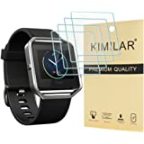 Fitbit Blaze Tempered Glass Screen Protector, [4 Pack] KIMILAR Premium HD Clear Film / Ultra High Definition Invisible and Anti-Bubble Crystal Shield