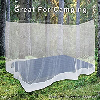 Alpine Grand Premium Mosquito Net SLEEP BETTER THAN EVER KNOWING YOU ARE BUG-FREE ALL NIGHT Single Bed, Double Bed, Crib, Hammock or Camping INCLUDES HANGING KIT & BACKPACK CARRY BAG