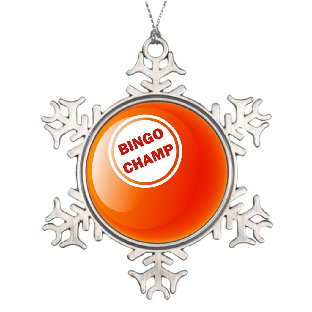Moc Moc Personalised Christmas Tree Decoration BINGO CHAMP BINGO BALL Outdoor Christmas Trees Merry Christmas From Heaven Snowflake Ornament