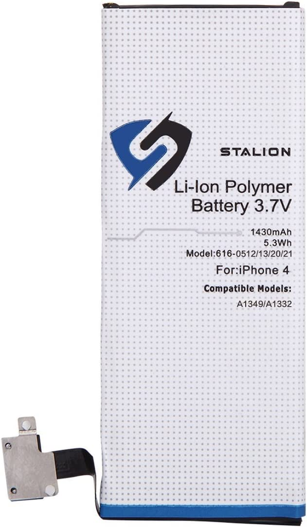 iPhone 4 Battery : Stalion Strength Replacement Li-Ion Polymer Battery 1420mAh 3.7V for iPhone 4 (4G)[24-Month Warranty](Compatible with GSM & CDMA Models A1349 / A1332)