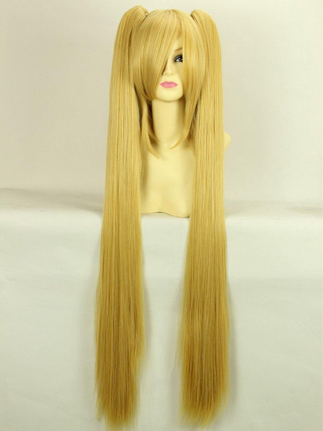 Larga peluca rubia cosplay recta peluca rubia Hatsune Miku ...