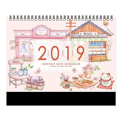 2019 Calendarios de Mesa Escenario de niña Cielo Estrellado Plan ...
