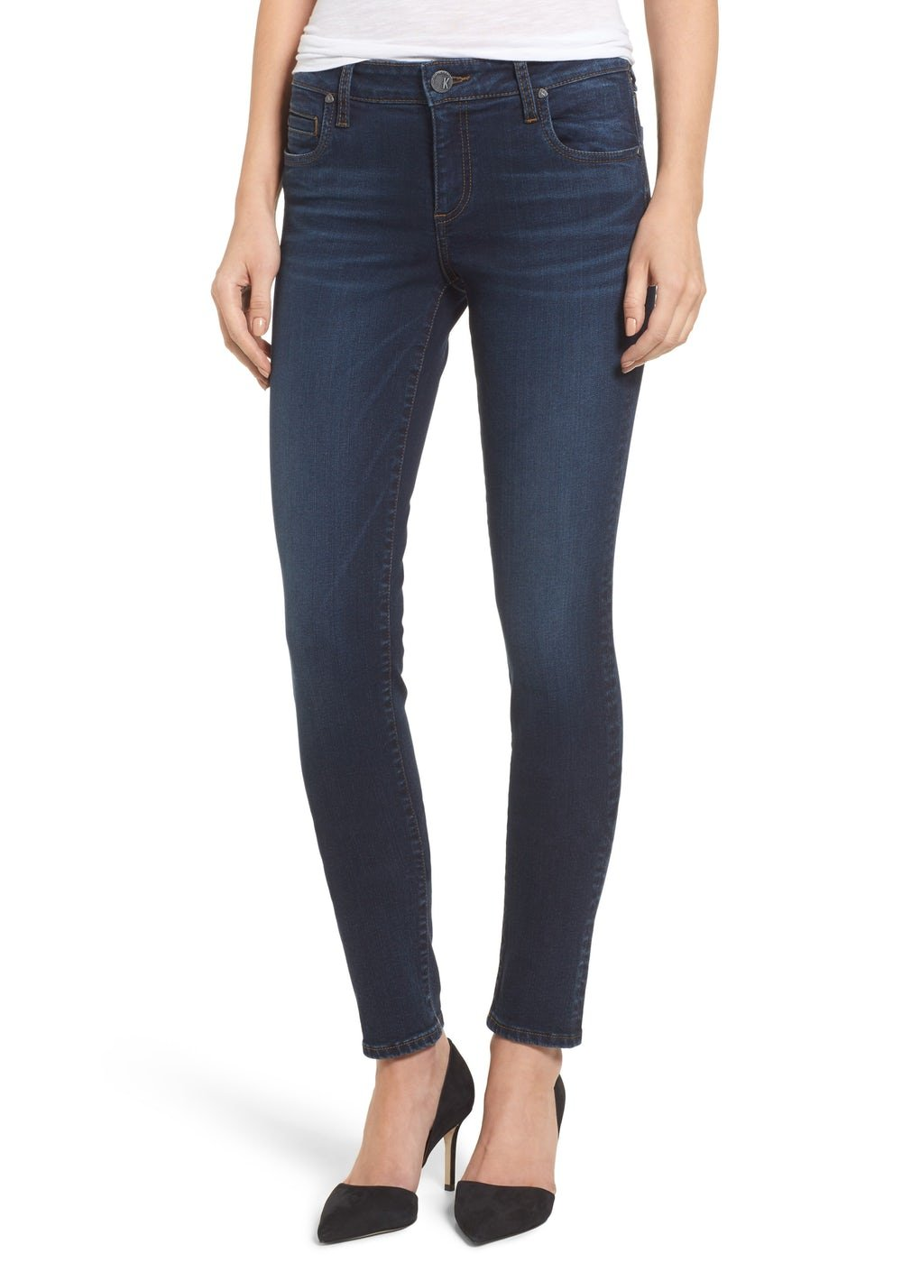 KUT from the Kloth Women's Diana Skinny in Model w/ Dark Stone Base Wash Model/Dark Stone Base Wash Jeans