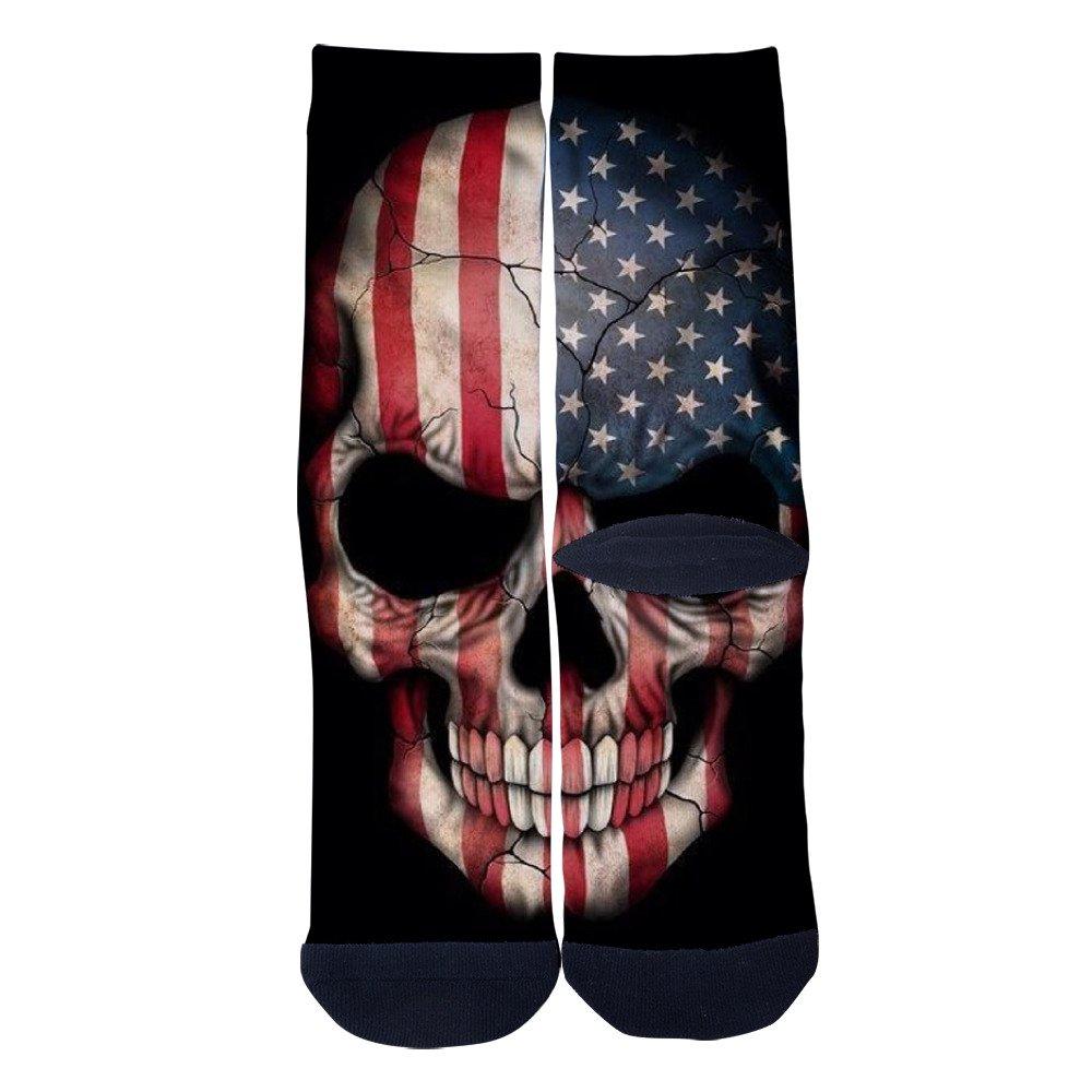 EveninSky Mens Womens Custom Foto U S A Creative Casual Crew Socks