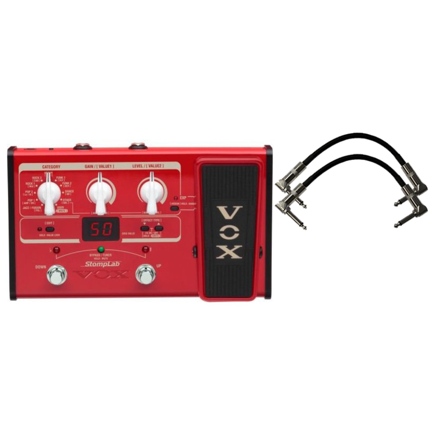 Vox Stomplab2B Bass Effects Pedal w/(2) 6'' Patch Cables