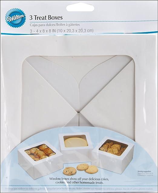 Wilton Treat Boxes-White 20,3/x 20,3/x 10,2/cm 3//Pkg