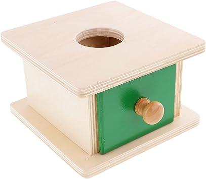 Gazechimp Juguete Materiales Montessori Sensoriel Bola y Caja de Madera Educación Temprana Juegos Educativos Niños - Esférico: Amazon.es: Juguetes y juegos