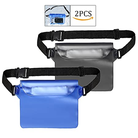 8df60b497da kuou 2 Pieces Waterproof Pouch with Waist Strap