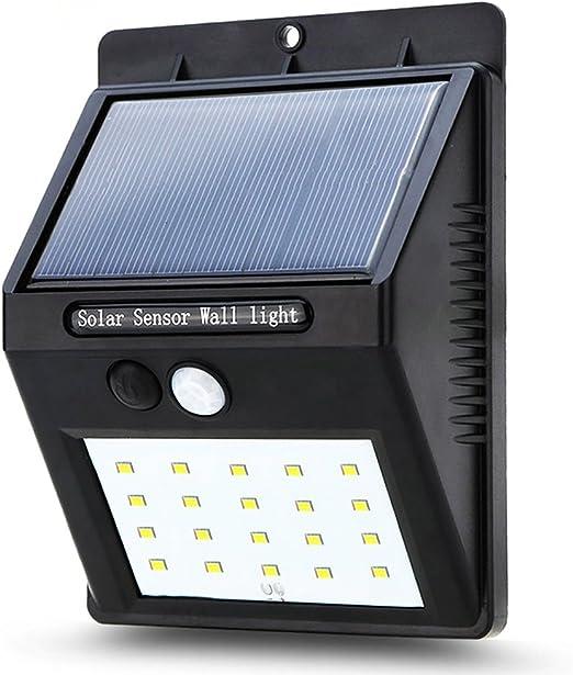 Luz Solar,Lámpara Solar Foco Solar Led Luces Solares 20 Led 1200mAh Luz de solar,Olliwon Luces de Exterior con Sensor de Movimiento Batería Solar Exterior para Jardín,Patio,Camino,Escalera: Amazon.es: Iluminación