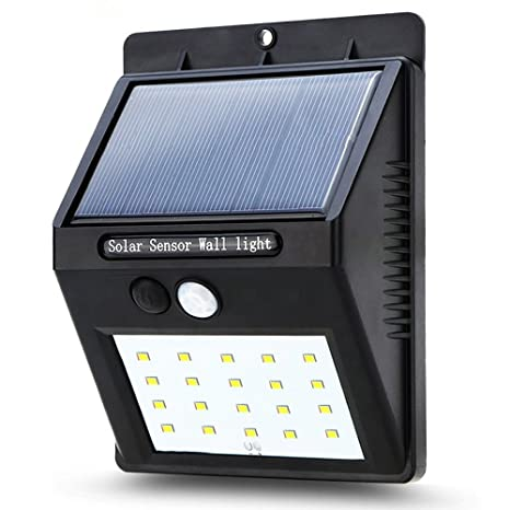 Luz Solar,Lámpara Solar Foco Solar Led Luces Solares 20 Led 1200mAh Luz de solar