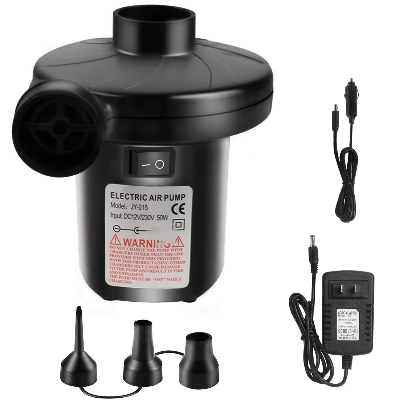 110V AC//12V DC Quick-Fill Air Pump Compressors for Inflatables Mattress Pool Toy